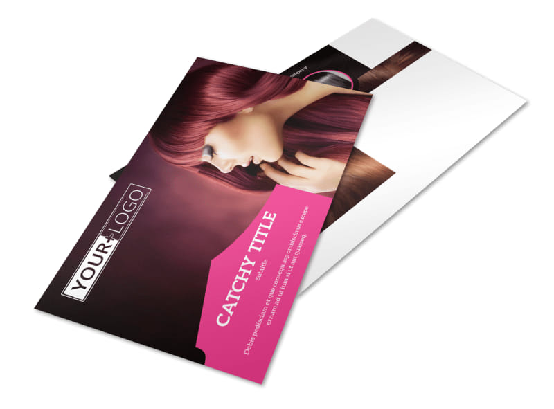 Stylish Hair Salon Postcard Template 2