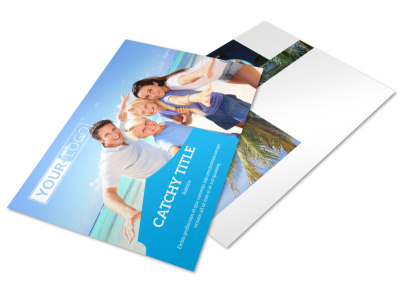 Getaway Beach Resort Postcard Template 2