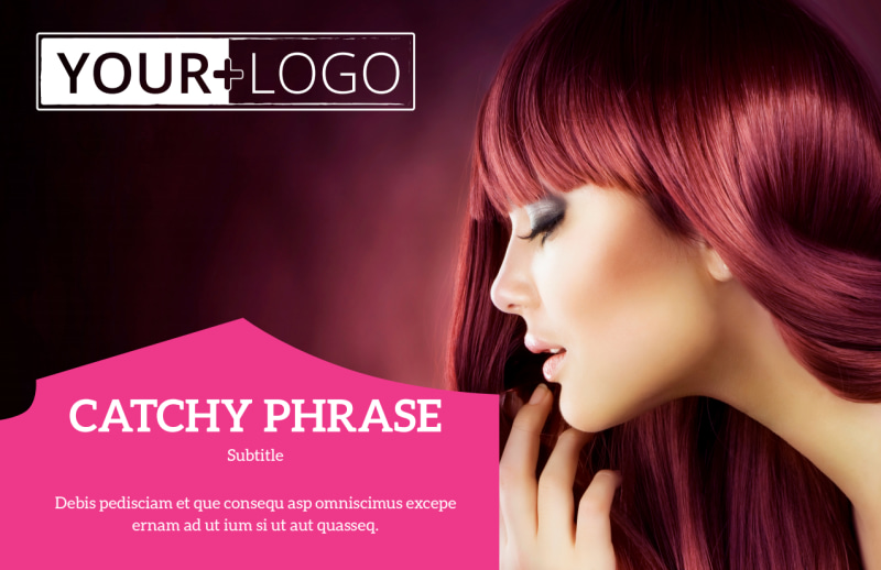 Stylish Hair Salon Postcard Template Preview 2