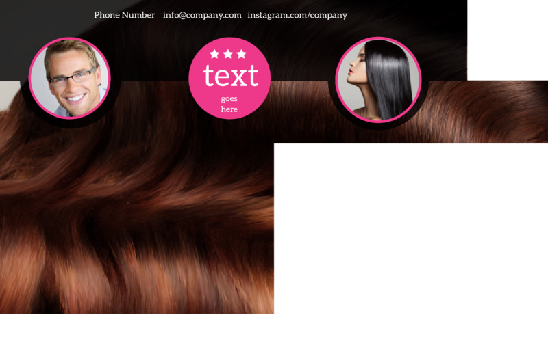 Stylish Hair Salon Postcard Template Preview 3