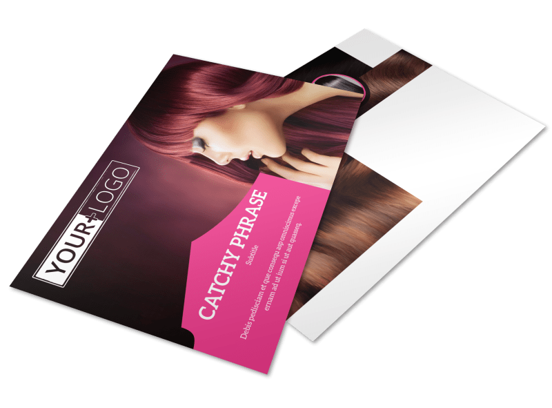 Stylish Hair Salon Postcard Template Preview 1