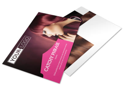 Stylish Hair Salon Postcard Template
