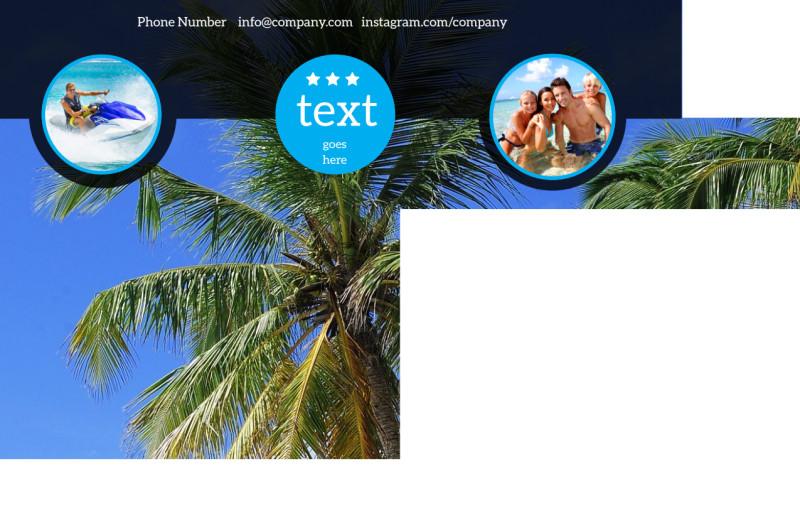 Getaway Beach Resort Postcard Template Preview 3