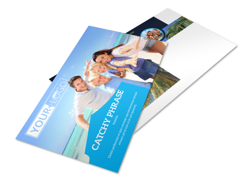 Getaway Beach Resort Postcard Template Preview 1