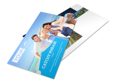 Getaway Beach Resort Postcard Template