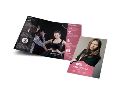 Fashion Agency Bi-Fold Brochure Template preview