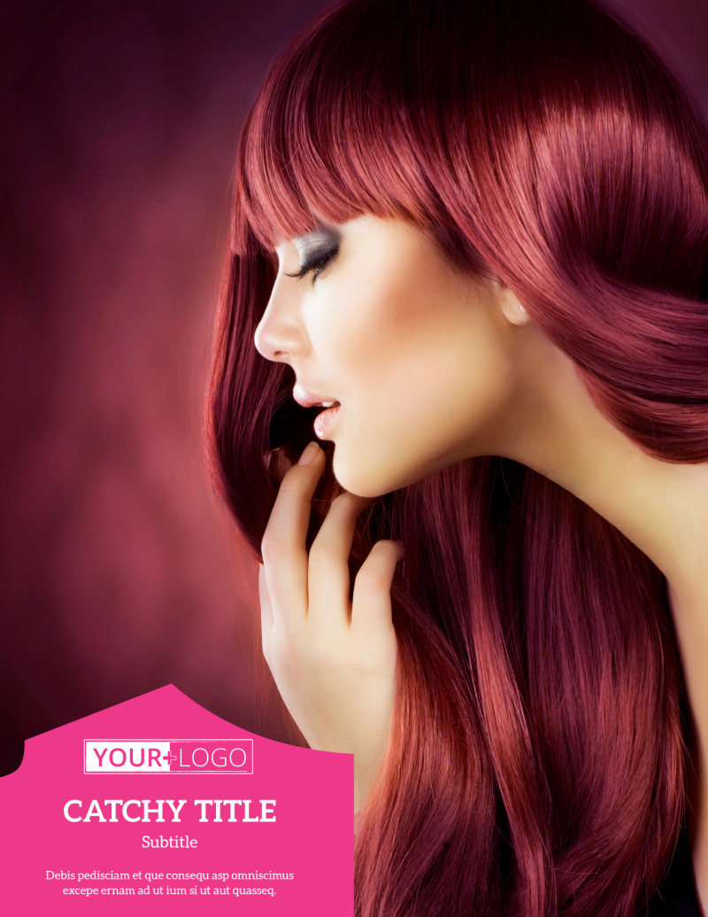Stylish Hair Salon Flyer Template Preview 2