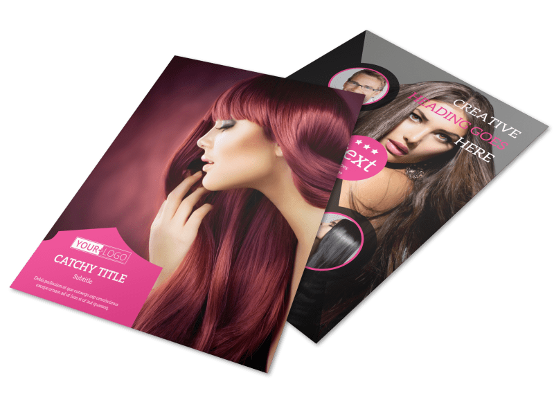 Stylish Hair Salon Flyer Template Preview 1