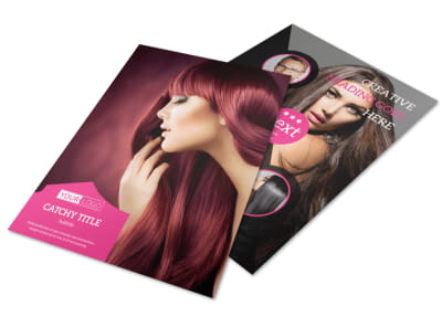 Stylish Hair Salon Flyer Template preview