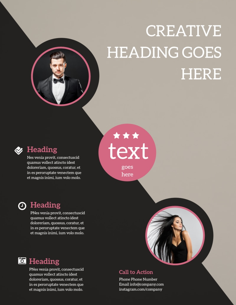 Fashion Agency Flyer Template Preview 3