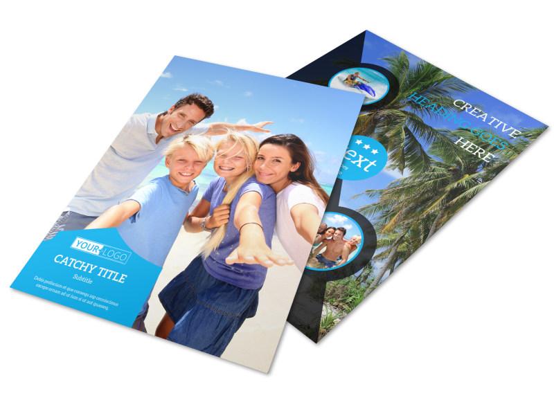 Getaway Beach Resort Flyer Template