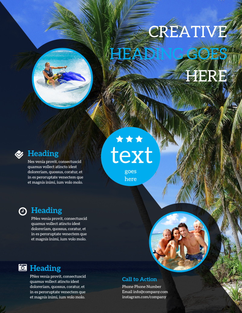 Getaway Beach Resort Flyer Template Preview 3