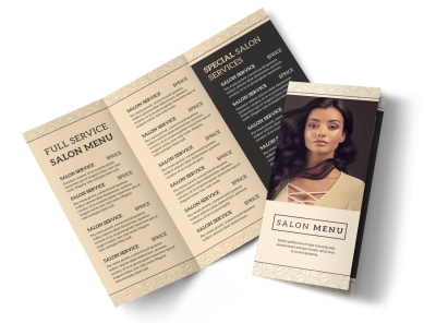 Stylish Hair Salon Tri-Fold Brochure Template preview