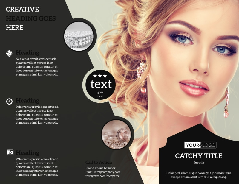 Jewelry Store Brochure Template Preview 2
