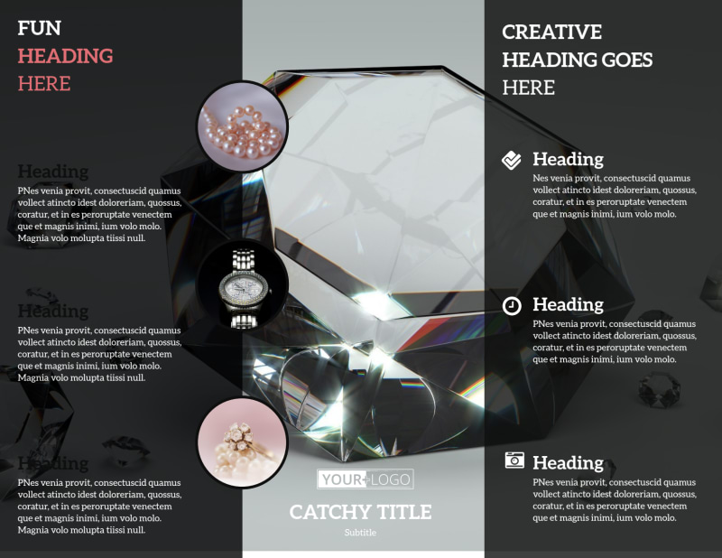 Jewelry Store Brochure Template Preview 3