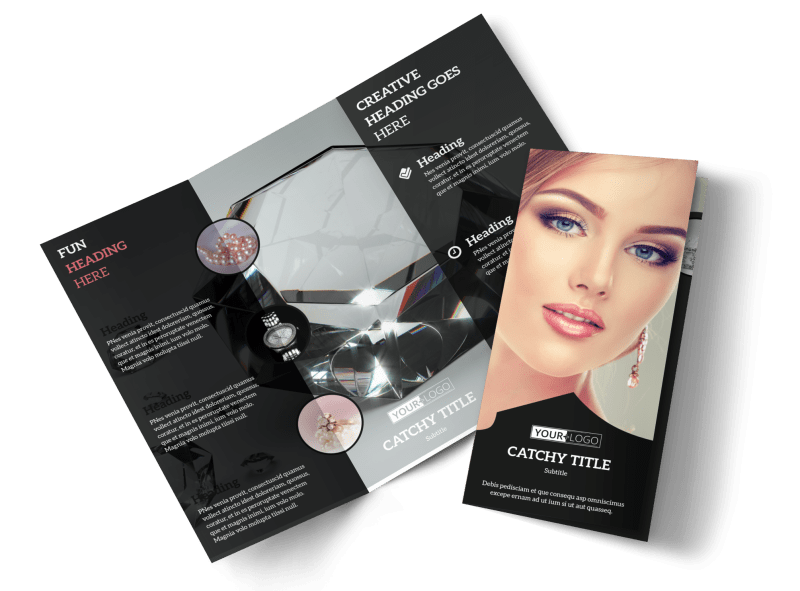 Jewelry Store Brochure Template Preview 1