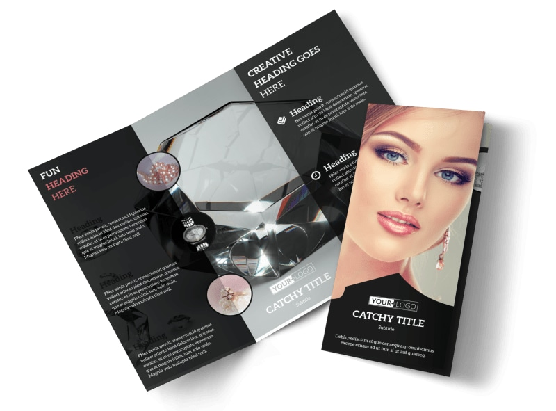 Jewelry Store Brochure Template MyCreativeShop - Brochure flyer templates