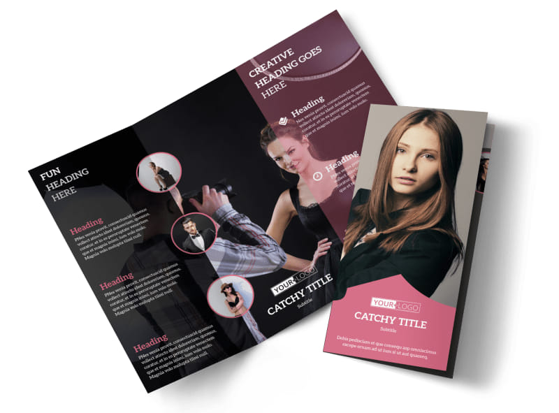 Fashion Agency Tri-Fold Brochure Template