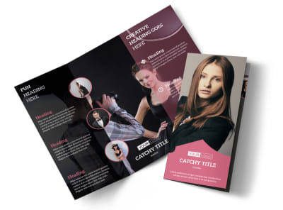 Fashion Agency Tri-Fold Brochure Template preview