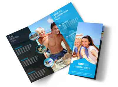 Getaway Beach Resort Tri-Fold Brochure Template