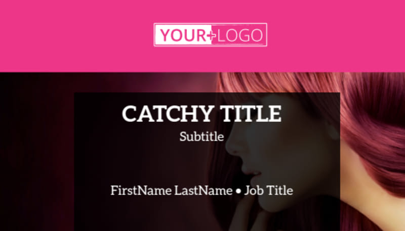 Stylish Hair Salon Business Card Template Preview 2