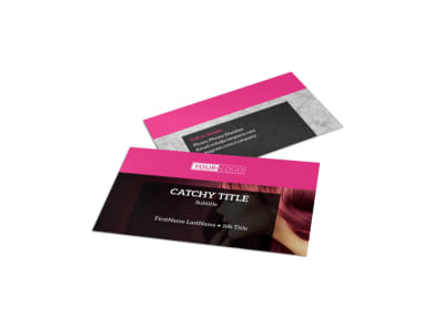 Stylish Hair Salon Business Card Template preview