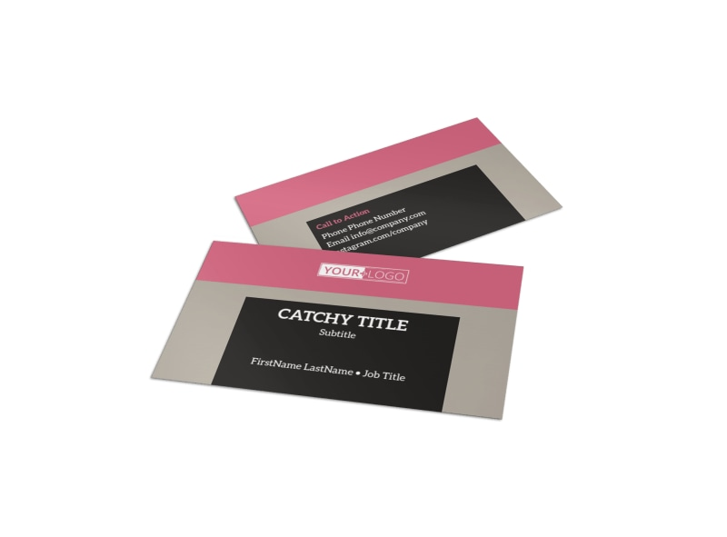 Fashion Agency Business Card Template