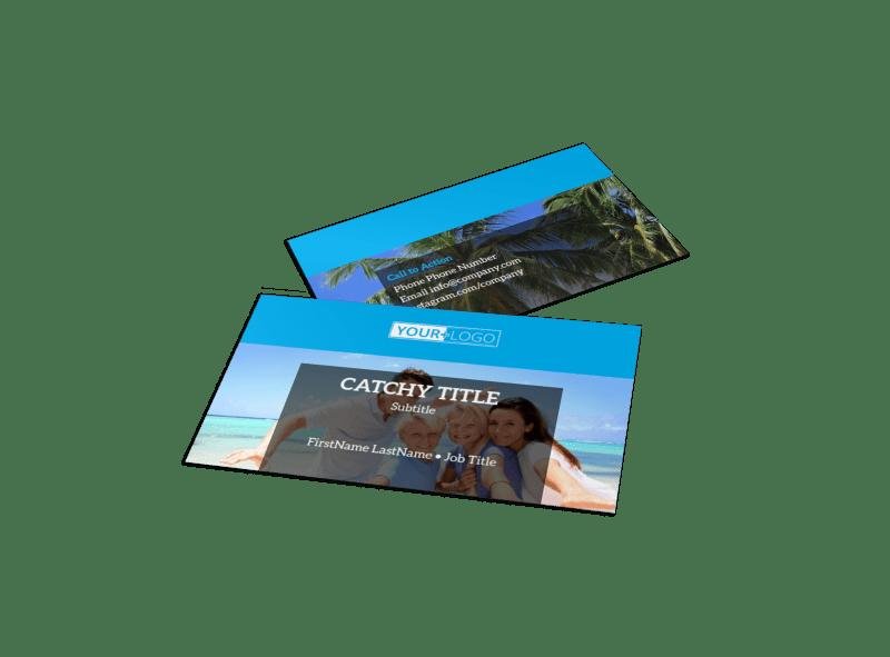 Getaway Beach Resort Business Card Template Preview 1