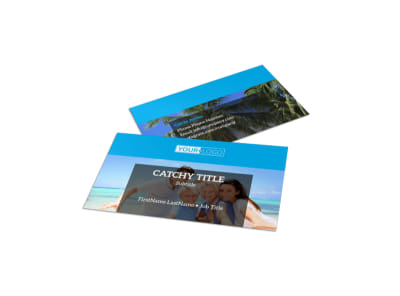 Getaway Beach Resort Business Card Template preview