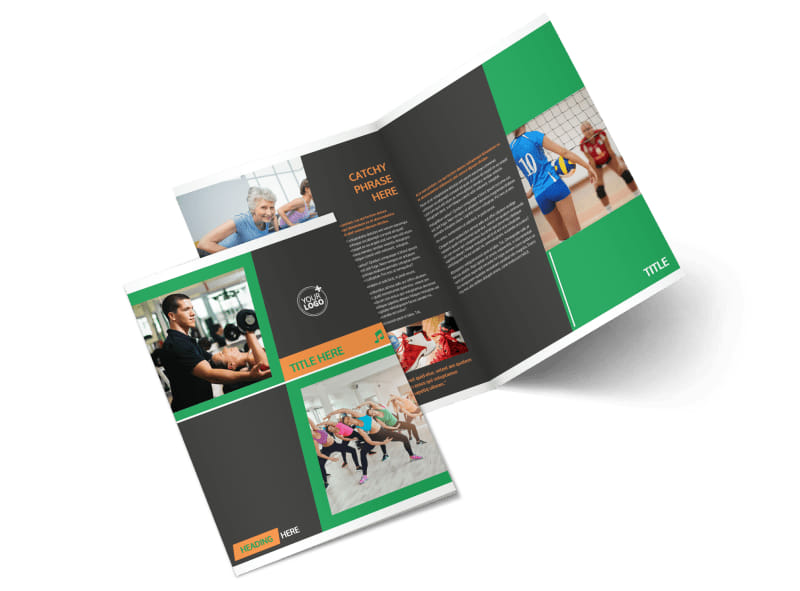 Strength Training Bi-Fold Brochure Template 2