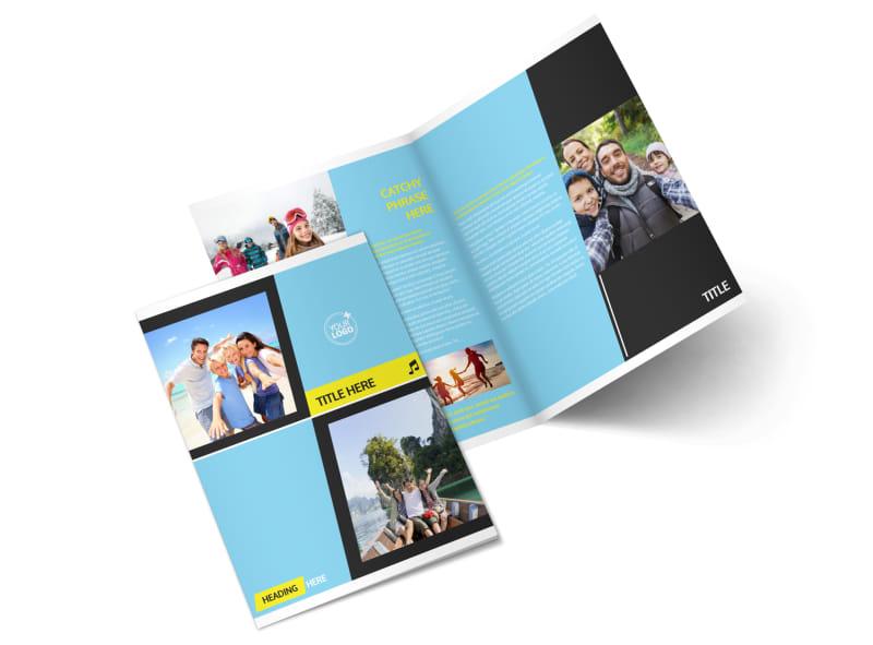 Family Travel Agency Bi-Fold Brochure Template 2