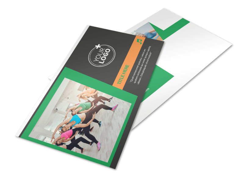 Strength Training Postcard Template 2