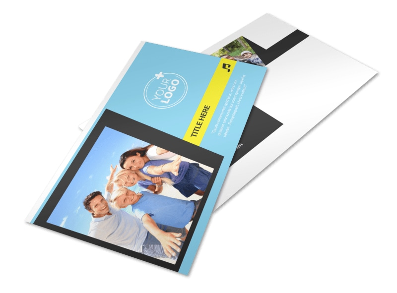 Family Travel Agency Postcard Template 2