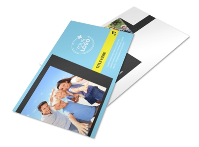 Family Travel Agency Postcard Template 2 preview