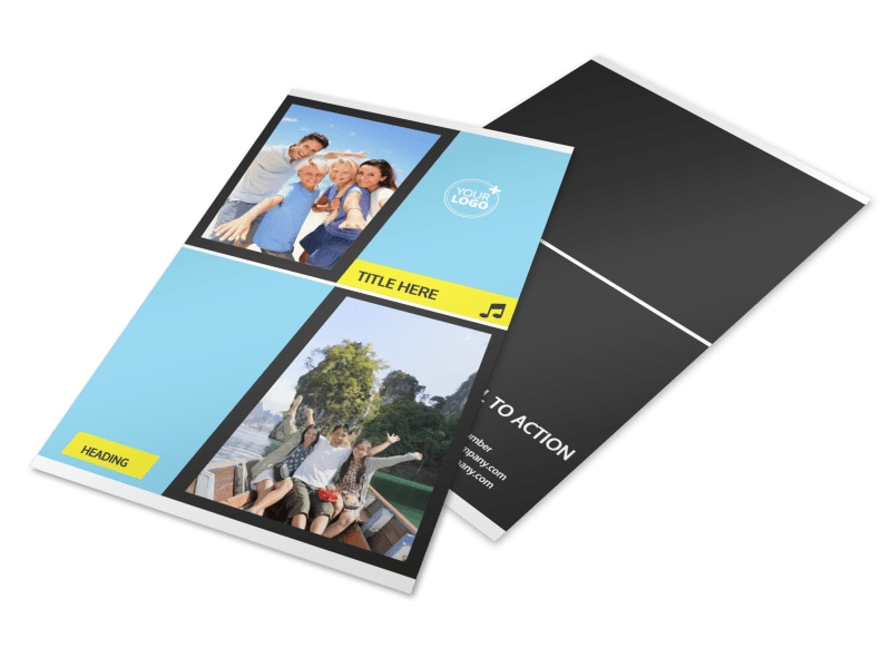 Family Travel Agency Flyer Template 3