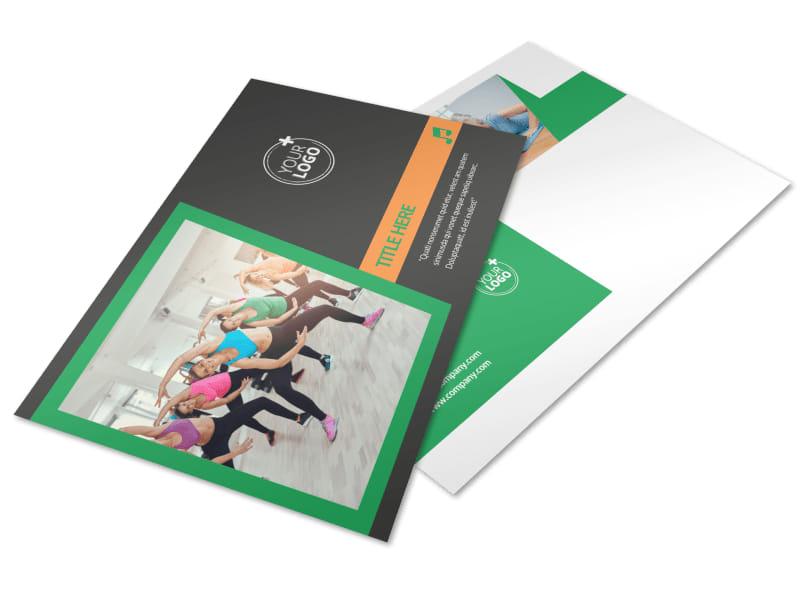 Strength Training Postcard Template