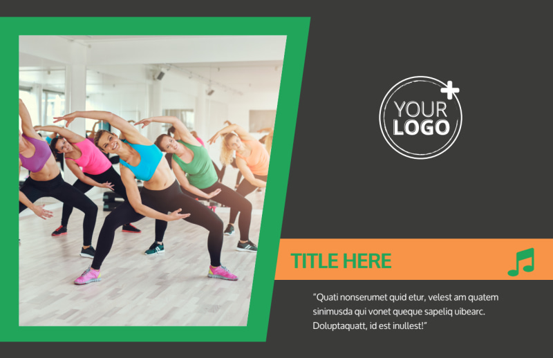 Gym Time Postcard Template Preview 2