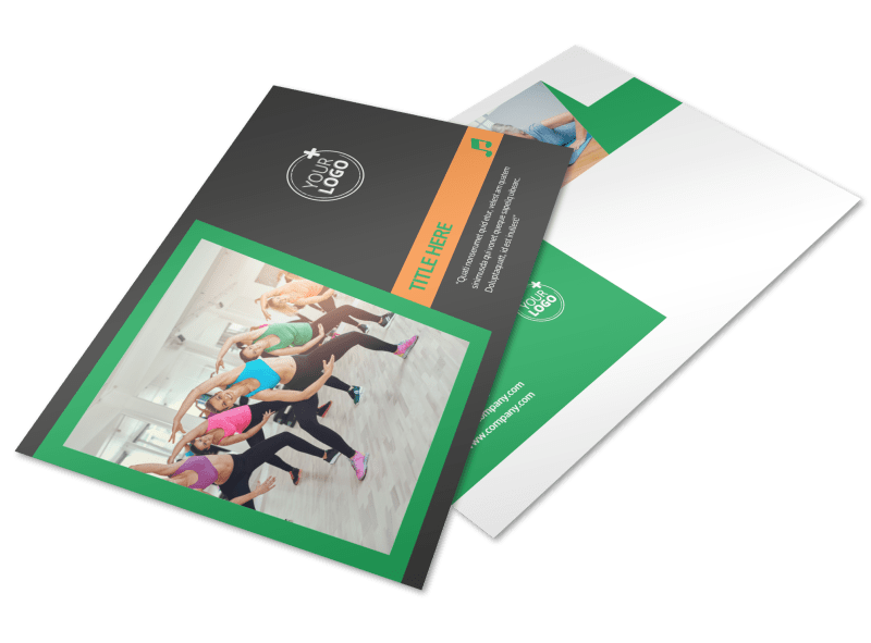 Gym Time Postcard Template Preview 1