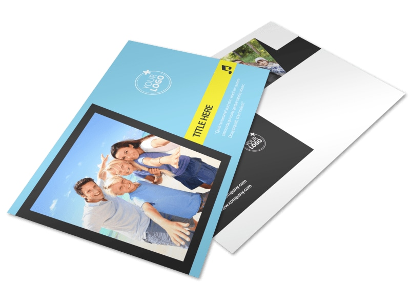 Family Travel Agency Postcard Template