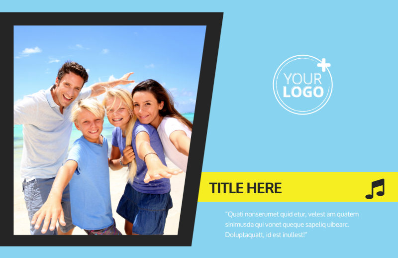 Family Travel Agency Postcard Template Preview 2