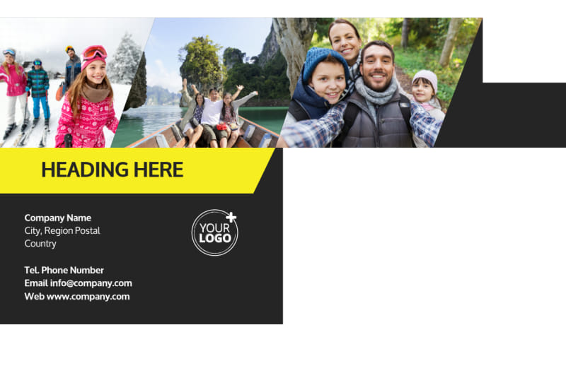 Family Travel Agency Postcard Template Preview 3