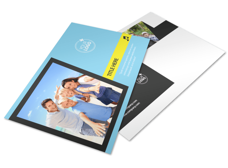 Family Travel Agency Postcard Template Preview 1