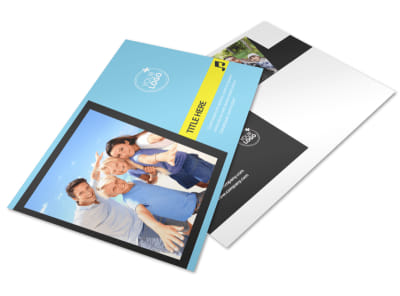 Family Travel Agency Postcard Template preview
