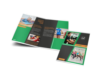 Strength Training Bi-Fold Brochure Template preview