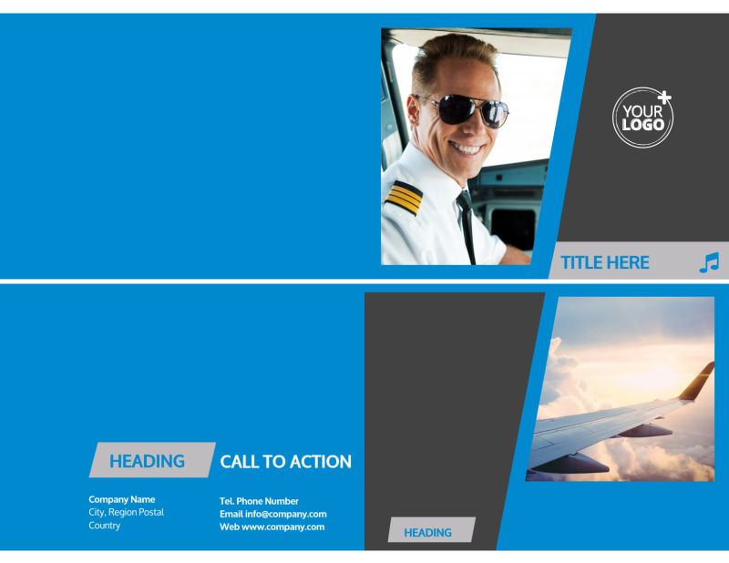 Above The Clouds Airline Brochure Template Preview 2