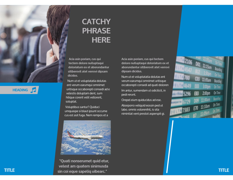 Above The Clouds Airline Brochure Template Preview 3