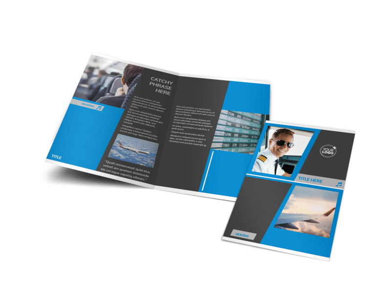 Above The Clouds Airline Brochure Template Preview 1
