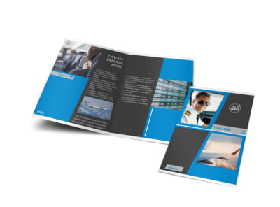 Above The Clouds Airline Bi-Fold Brochure Template