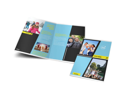 Family Travel Agency Bi-Fold Brochure Template