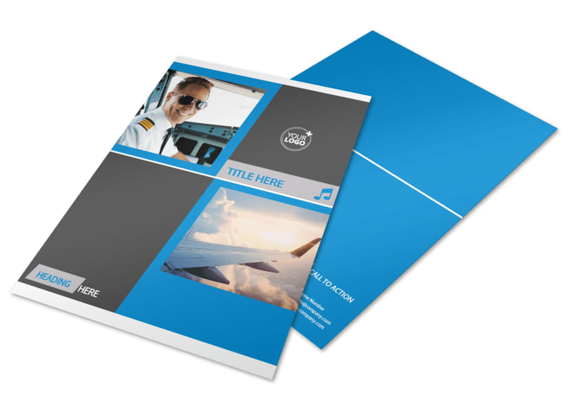 Above The Clouds Airline Flyer Template Preview 4